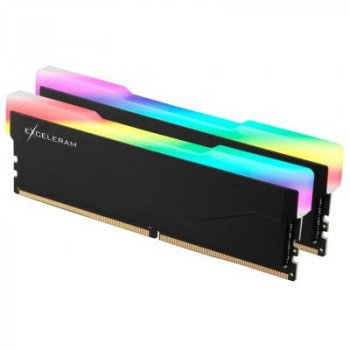 Модуль памяти для компьютера DDR4 16GB (2x8GB) 2666 MHz RGB X2 Series Black eXceleram (ERX2B416269AD)