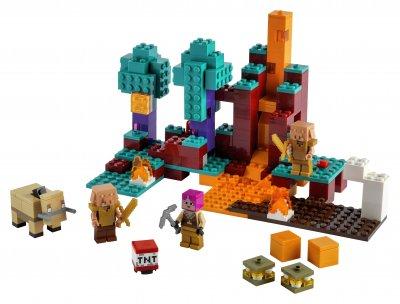 Конструктор LEGO Minecraft Искажённый лес 287 деталей (21168)