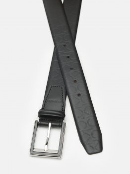 Мужской ремень кожаный Calvin Klein Jeans Two-Step Ind Mono 35Mm K50K506871-0GL 95 см Black Mono (8719853772058)