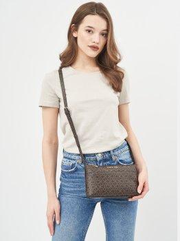 Жіноча сумка Calvin Klein Jeans Ew Xbody Monogram K60K608105-0HD Brown Mono (8719853684047)