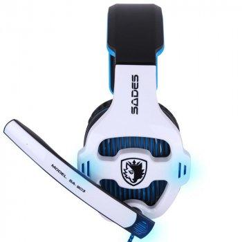 Навушники Sades SA903 7.1 Surround Sound White/Blue (SA903-WB)