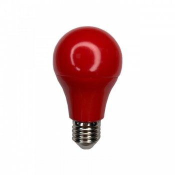 "Лампа світлодіодна A60 7W E27 175-265V червона ""LEMANSO"" LM3086"