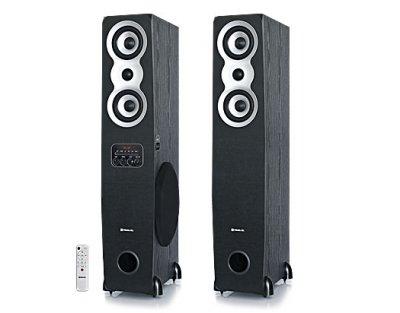 Колонки 2.0 REAL-EL S-2020 refurbished (Bluetooth, USB flash, FM, Karaoke, ДУ)