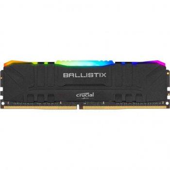 Модуль памяти для компьютера DDR4 8GB 3200 MHz Ballistix RGB Black MICRON (BL8G32C16U4BL)