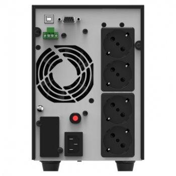 ИБП NJOY Echo Pro 2000 (UPOL-OL200EP-CG01B), Online, 4 x Schuko, USB, LCD, металл