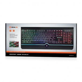 Клавіатура REAL-EL 8000 Comfort Backlit Black