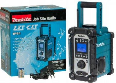 Радиоприемник аккумуляторный Makita DMR107 (без аккумулятора и ЗУ)