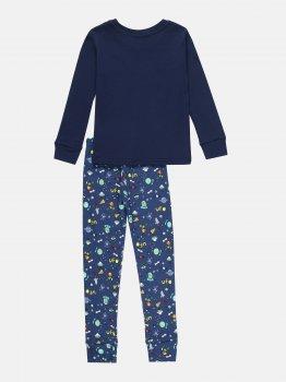 Пижама (футболка с длинными рукавами + штаны) Фламинго 256-222 Синая