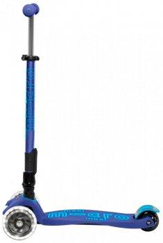 Самокат Micro Maxi Deluxe LED Темно-синий (MMD099)