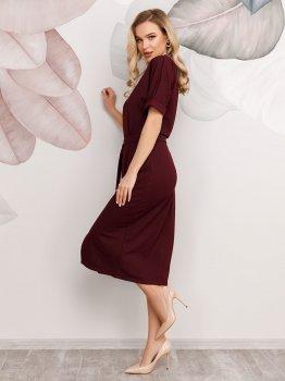 Платье ISSA PLUS 12506 Бордовое