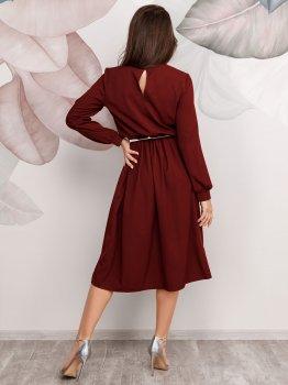 Платье ISSA PLUS 12510 Бордовое