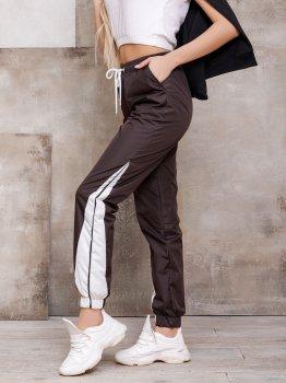 Спортивні штани ISSA PLUS SA-124 Темно-коричневі