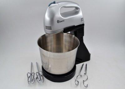 Миксер ручной Domotec DT-1133 200W стационарный кухонный с чашей