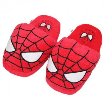 """Плюшевые тапочки игрушки Человек паук """"Spiderman"""" My kigu 28 см универсальный"""
