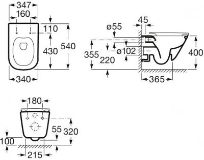 Унітаз підвісний ROCA Gap Rimless A34H470000 із сидінням Slim Soft Close дюропласт