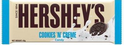 Белый шоколад Hershey's с печеньем и кремовым вкусом 43 г (03423909)