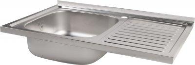 Кухонна мийка Lidz 5080-L Decor 0.8 мм (LIDZ5080LDEC06)