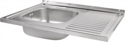 Кухонна мийка Lidz 6080-L Decor 0.8 мм (LIDZ6080LDEC08)