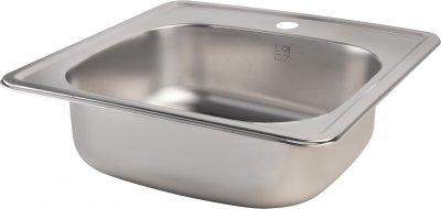 Кухонна мийка Lidz 4848 Satin 0.6 мм (LIDZ4848SAT06)
