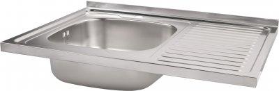 Кухонна мийка Lidz 6080-L Satin 0.8 мм (LIDZ6080LSAT8)