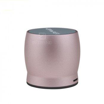 Колонка для ПК та ноутбука AWEI Y500 компактна маленька гучна і потужна для комп'ютера Bluetooth, AUX / FM / microUSB бездротова колонка з microSD + якісний звук – акустична система, Рожевий