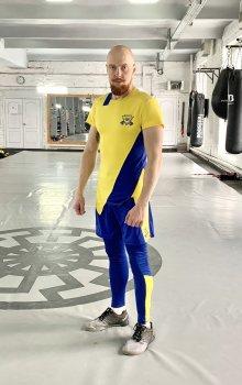 Чоловічий спортивний комплект (Футболка + тайтси + шорти) Grade UA2 3.0 FitU Жовтий