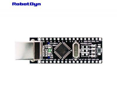 Плата контролер RobotDyn NANO V3 посилений розпаяний 3.3В