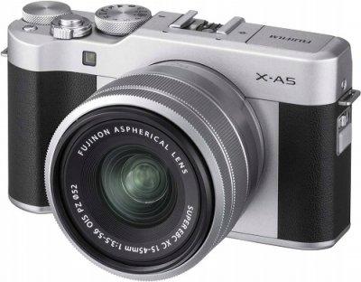 Фотоапарат FujiFilm X-A5 srebrny + 15-45mm