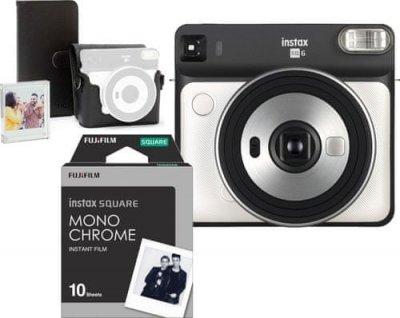 Фотоапарат FujiFilm SQ6 White + Accessory Kit + 10 wkładów i lampki LED do zawieszania zdjęć