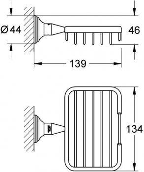 Мыльница-решетка GROHE Essentials Authentic 40659001