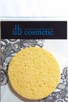 Упаковка спонжей для умывания db cosmetic желтых круглой формы № 977 9 см х 3 шт (8026816999774)