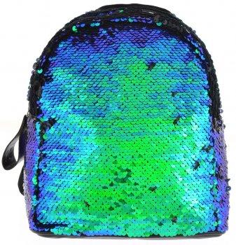 Рюкзак молодіжний з паєтками Yes GS-02 Green Sequins для дівчаток 0.2 кг 19х23х17 см 7 л (557653)