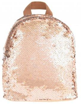 Рюкзак молодіжний з паєтками Yes GS-02 Gold для дівчаток 0.2 кг 19х23х17 см 7 л (557649)