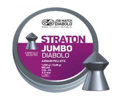 Пули пневм JSB Diablo Jumbo Straton 5,5 мм 1,030 гр. (500 шт/уп)