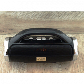 Портативна Колонка FM акустична Atlanfa AT-1829BT 12W Super Bass speaker AUX Bluetooth MP3 microSD/TF + USB, функція Power Bank