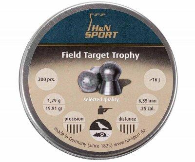 Свинцовые пули H&N Field Target Trophy 6,35 мм 1,29 г 200 шт (1453.02.53)