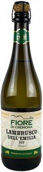 Вино напівігристе Vinicola Decordi Fiore di Cremona Lambrusco Dell`Emilia IGT Bianco біле напівсолодке 0.75 л 8% (8008820161712)