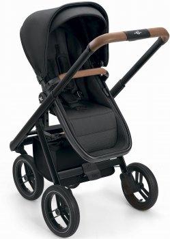 Універсальна коляска 2 в 1 Neonato Puro Urban Чорна на чорній рамі (N900-74/A) (8005549409040)
