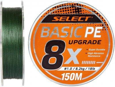 Шнур Select Basic PE 8x 150 м #1.2/0.16 мм 20 lb / 9.3 кг Темно-зеленый (18703135)