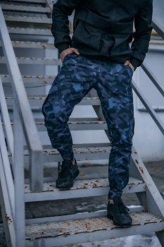 """Штани чоловічі котонові Intruder """"Baza"""" штани осінні весняні літні синій камуфляж"""