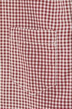 Рубашка H&M 1902-7969720 Темно-красный/Клетка