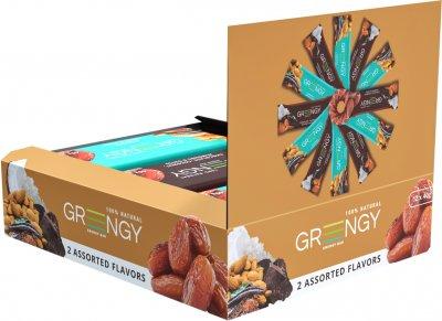 Упаковка батончиков Greengy Ассорти шоколадное 40 г х 12 шт (4820221320635)