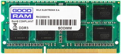 Оперативна пам'ять Goodram SODIMM DDR3-1600 2048MB PC3-12800 (GR1600S3V64L11/2G)