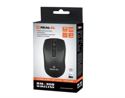 Миша бездротова REAL-EL RM-308 Black UAH