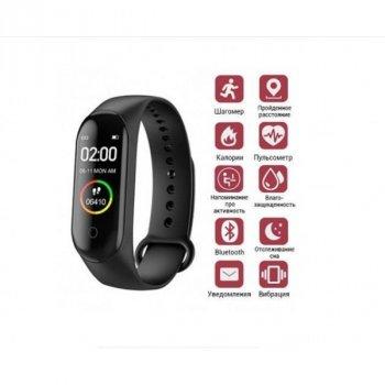 Фітнес браслет трекер Smart М5 Bluetooth 5.0 для моніторингу актівності з магнітною USB зарядка Black (676776)