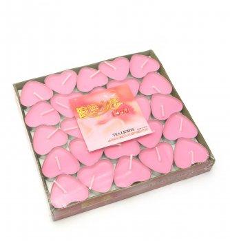 Свечи Сердечки Розовые (Набор 50 Штук)(17Х16Х2 См) 28858