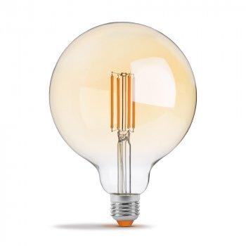 Світлодіодна лампа VIDEX Neoclassic G125FAD 7W E27 2200K 220V филаментная з діммером бронзова (VL-G125FAD-07272)