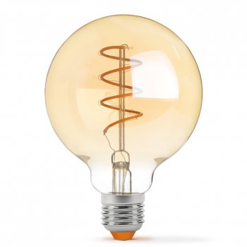 Филаментная лампа VIDEX Neoclassic G95FASD 5W E27 2200K 220V з діммером золота (VL-G95FASD-05272)