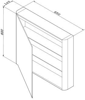 Зеркальный шкаф AM.PM Like 65 см левый M80MCL0650WG38 белый глянец