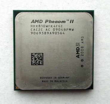 Процесор AMD Phenom II X4 810 2,6 GHz sAM3 Tray 95w (HDX810WFK4FGI) Deneb Б/У